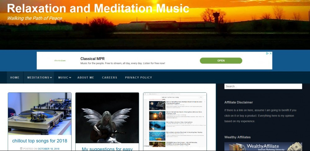 Relaxation and Meditation Music offers free online music