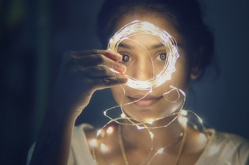 Lights, woman