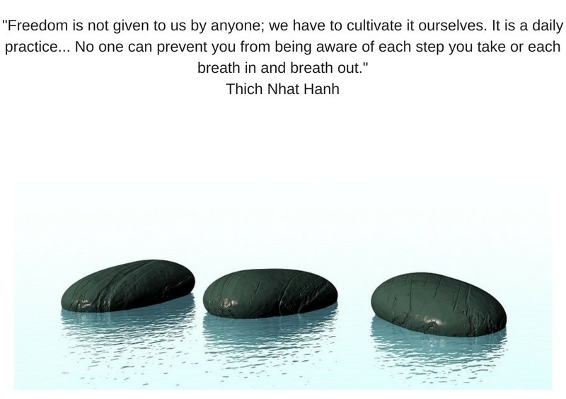 # stones with quote for beginning meditation
