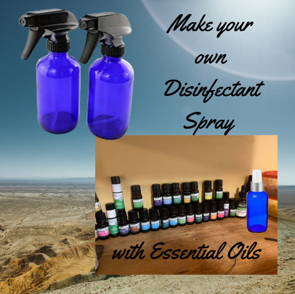 Disinfectant Spray with Essential Oils