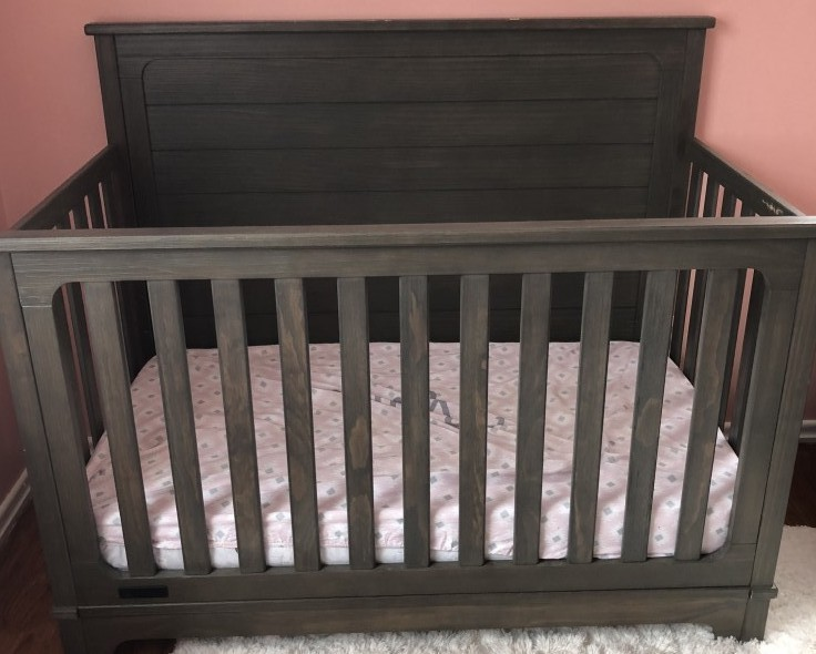 4 In 1 Convertible Crib Is A Versatile That Can Transition With Your Child From Birth To Adulthood The Comes Rustic White Or Gray