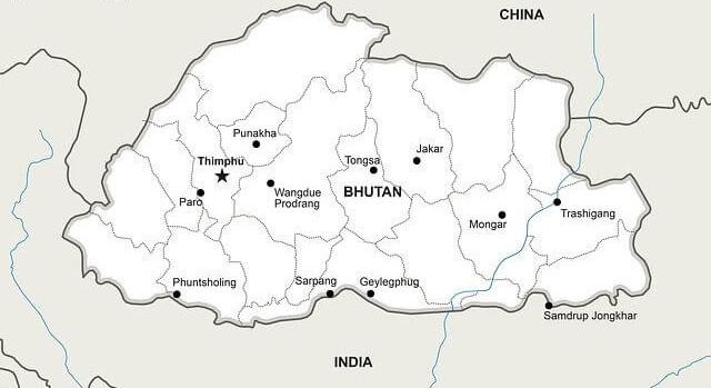 Tourism Bhutan -- country map