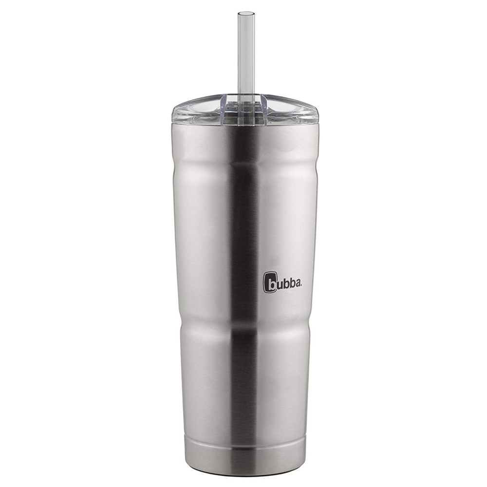 This tumbler comes with a straw for convenience.