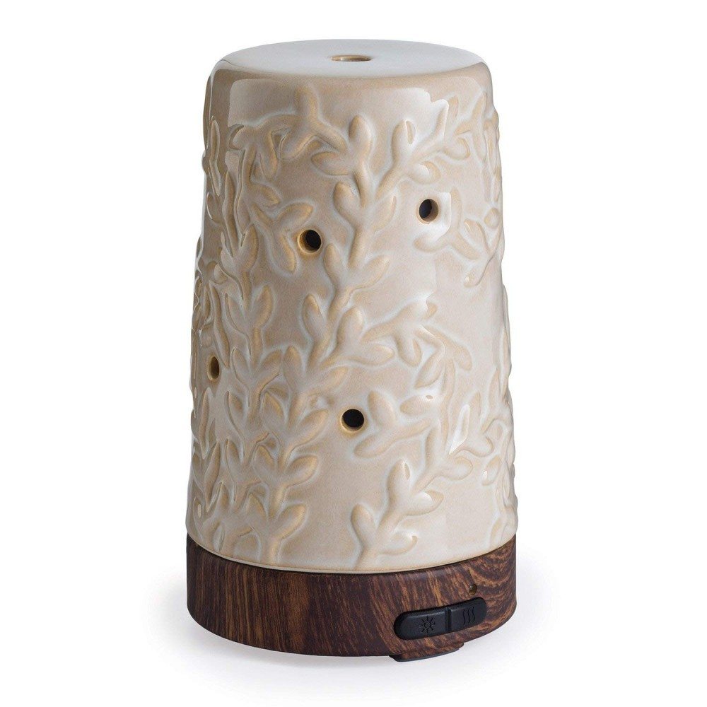 This diffuser is made out of ceramic instead of plastic which can have harmful byproduct chemicals.