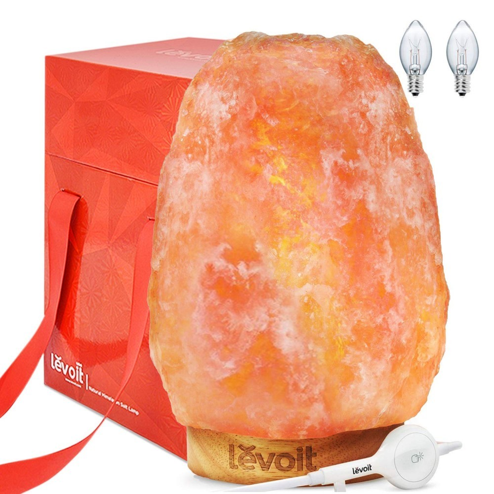 This Levoit salt lamp comes well accessorized with a safe touch dimmer light switch and a premium gift bag.