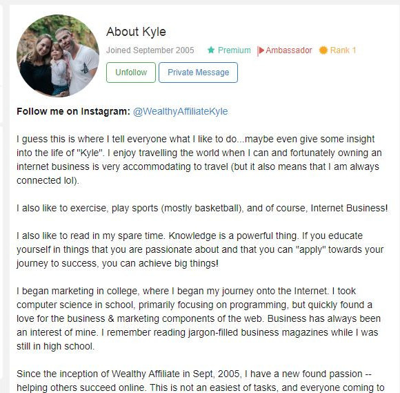 Kyle how good is wealthy affiliate