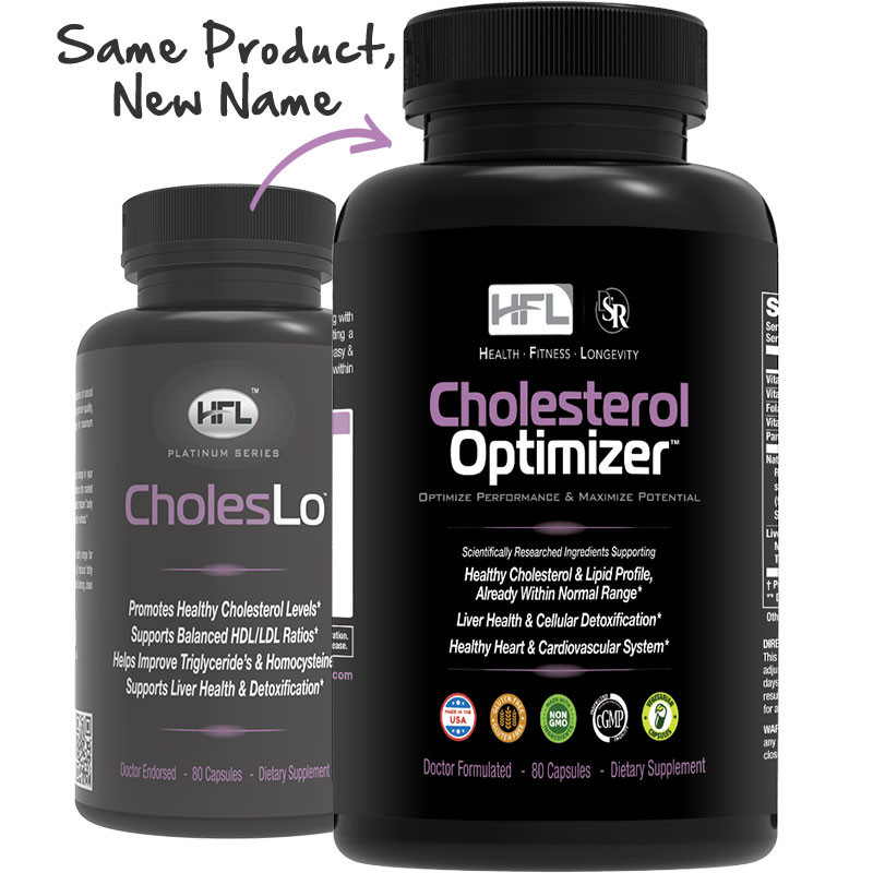 Cholelso HFL now called cholesterol Optimizer