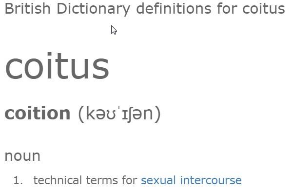 Definition Coitus
