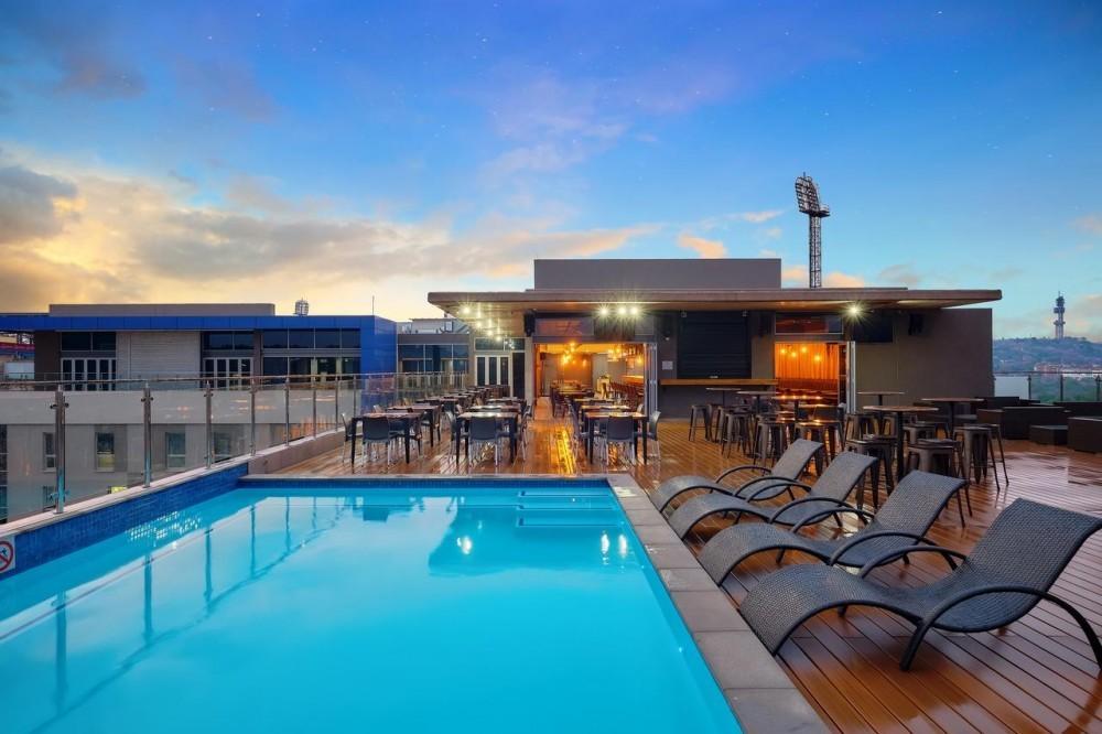 Pool area at Protea Hotel Loftus Park