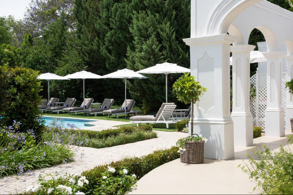 Outside lounging area at RIver Manor Boutique Hotel