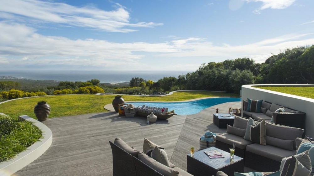 Pool area at Grootbos Private Nature Reserve