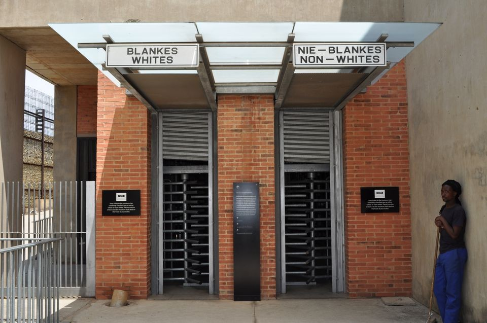 Entrance at Apartheid Museum