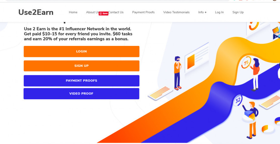 Use2Earn Review--Influencer network