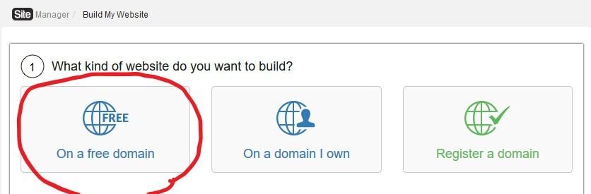a free domain on siterubix