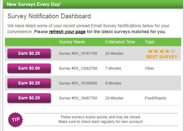 Low-paying surveys on Inboxdollars