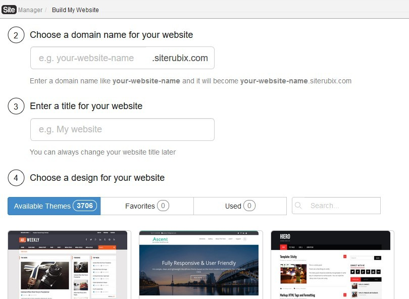 build your websit for free