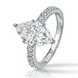 marquis cut wedding ring