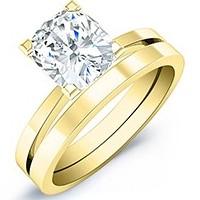 gold and diamond wedding set