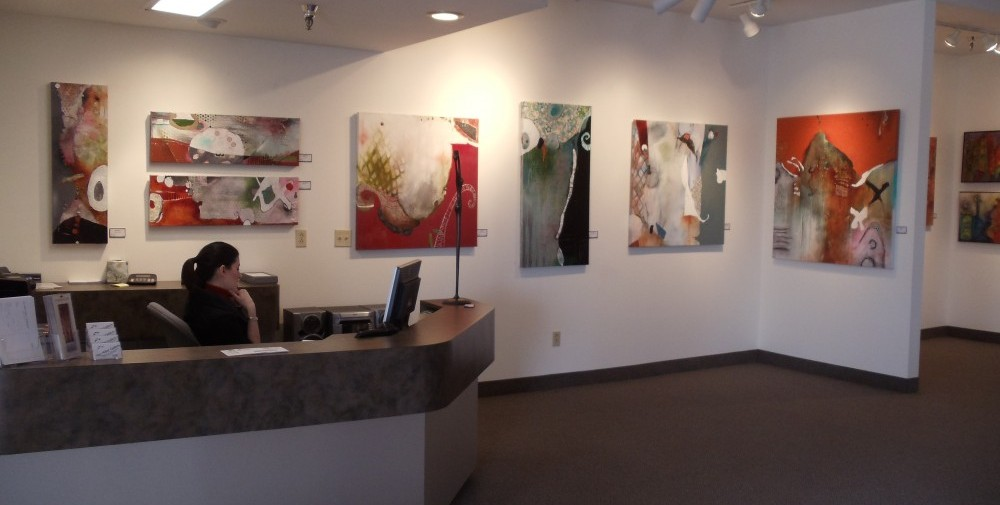 my art at a gallery