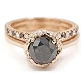 black diamond wedding set