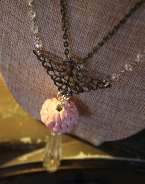 crystal and bead necklace