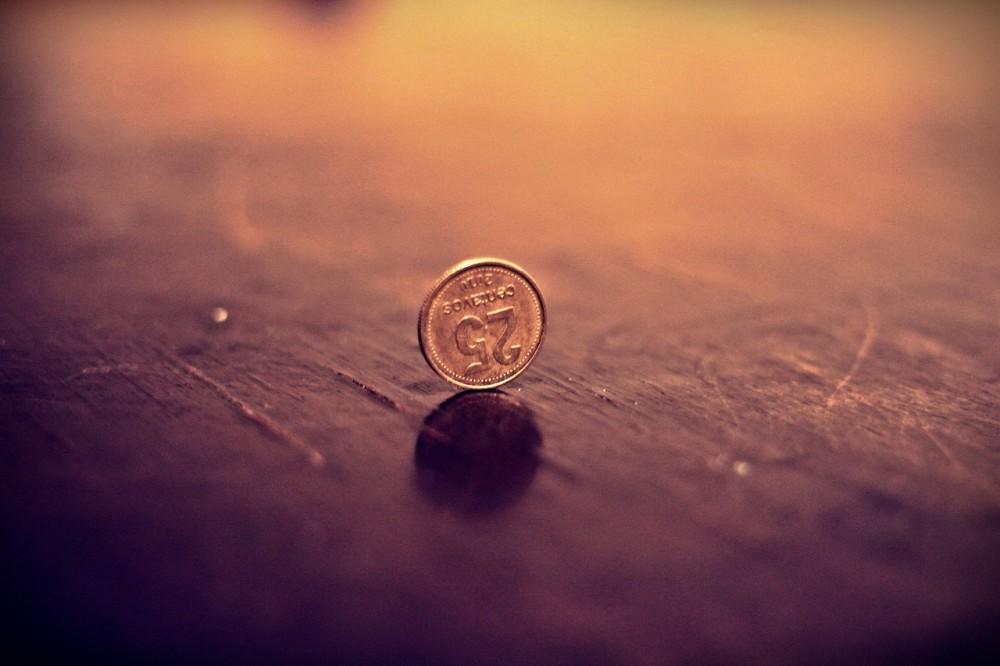 a 25 cent coin