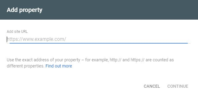 Add property url