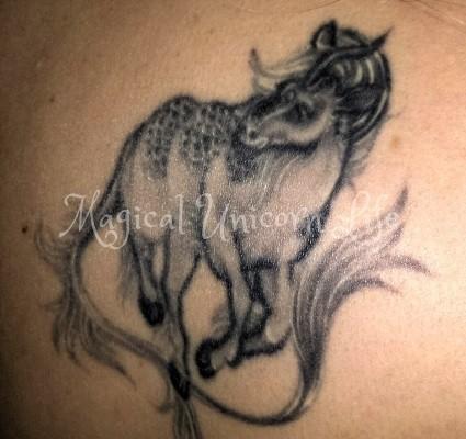 japanese unicorn kirin tattoo