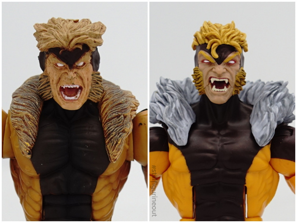 Marvel Legends - Toybiz Sabretooth (Series V) vs Hasbro Toybiz (Apocalypse BAF Wave)