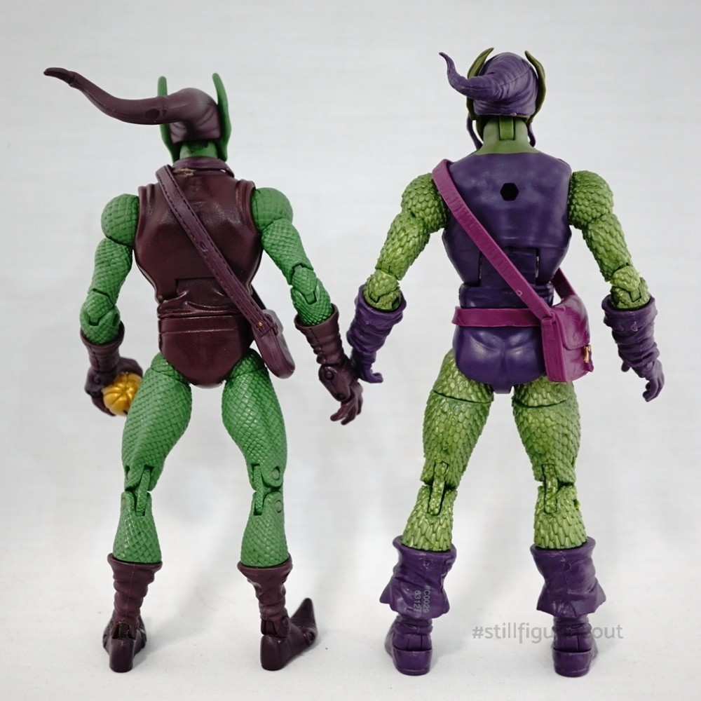 Marvel Legends - Toybiz Green Goblin (Onslaught BAF Wave) vs Hasbro Green Goblin (Sandman BAF Wave)