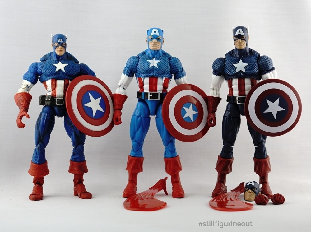 Marvel Legends - Toybiz Ultimate Captain America variants (Series VIII)
