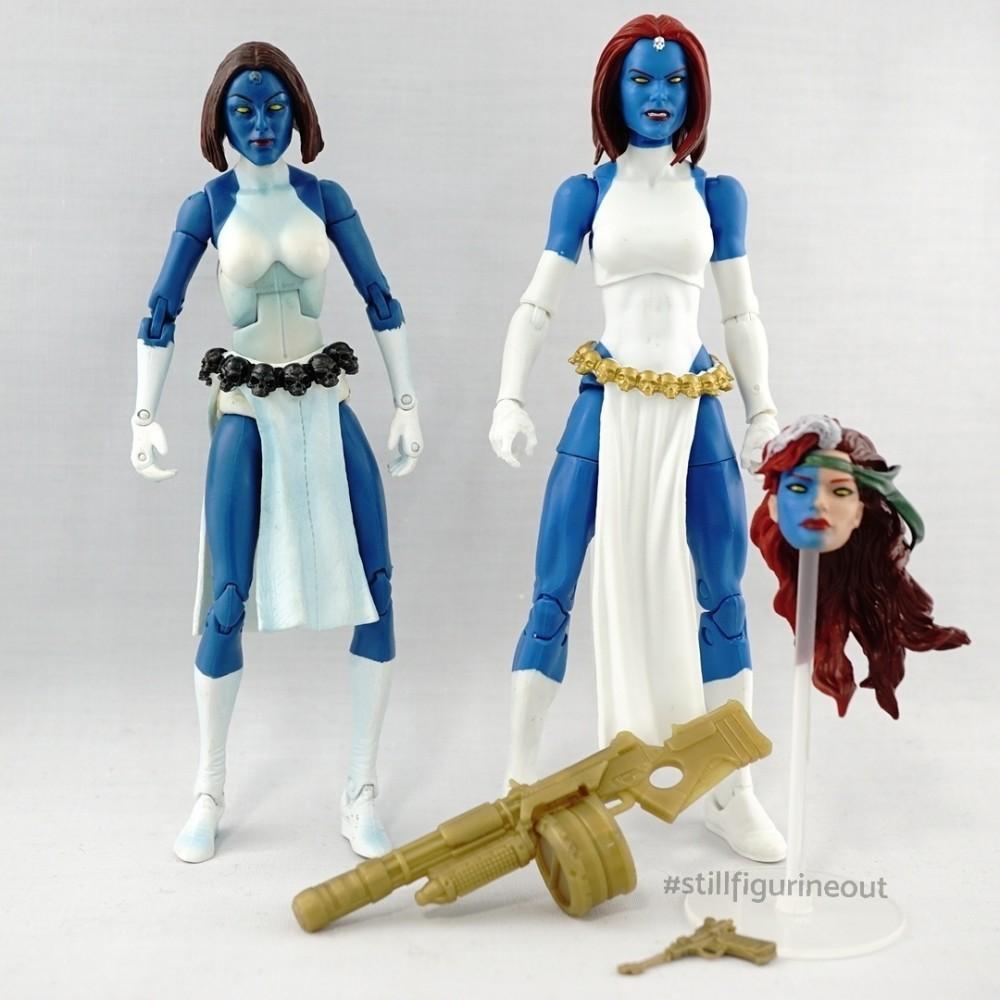 Marvel Legends - Toybiz Mystique (Sentinel BAF Wave) vs Hasbro Mystique (Walgreens Exclusive)