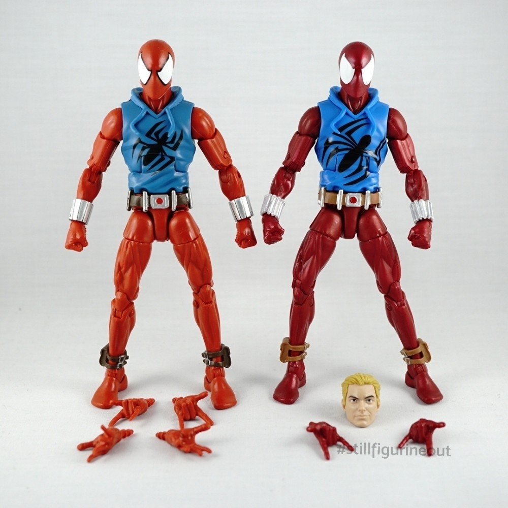 Marvel Legends - Hasbro Scarlet Spider (Rhino BAF Wave) vs Hasbro Scarlet Spider (Vintage Wave)