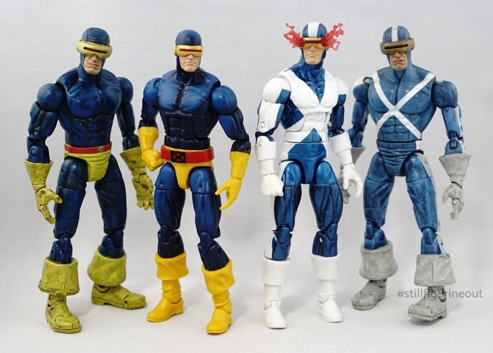 Marvel Legends - Hasbro X-Factor Cyclops (Vintage Wave) vs Toybiz X-Factor Cyclops (Sentinel BAF Wave)