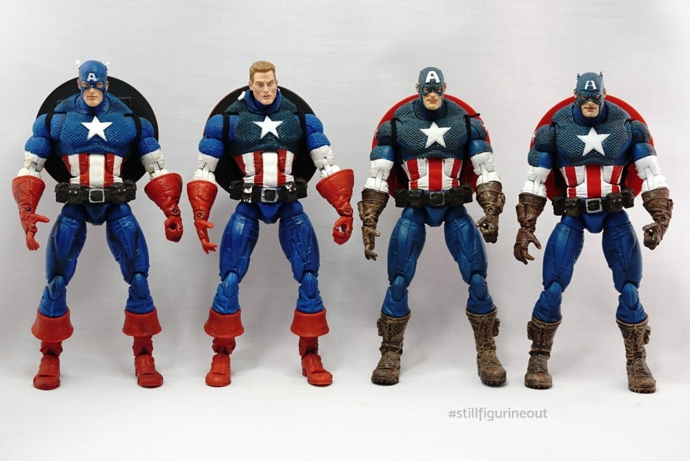 Marvel Legends - Toybiz Captain America Masked and Unmasked variants (Face-off 2-pack)