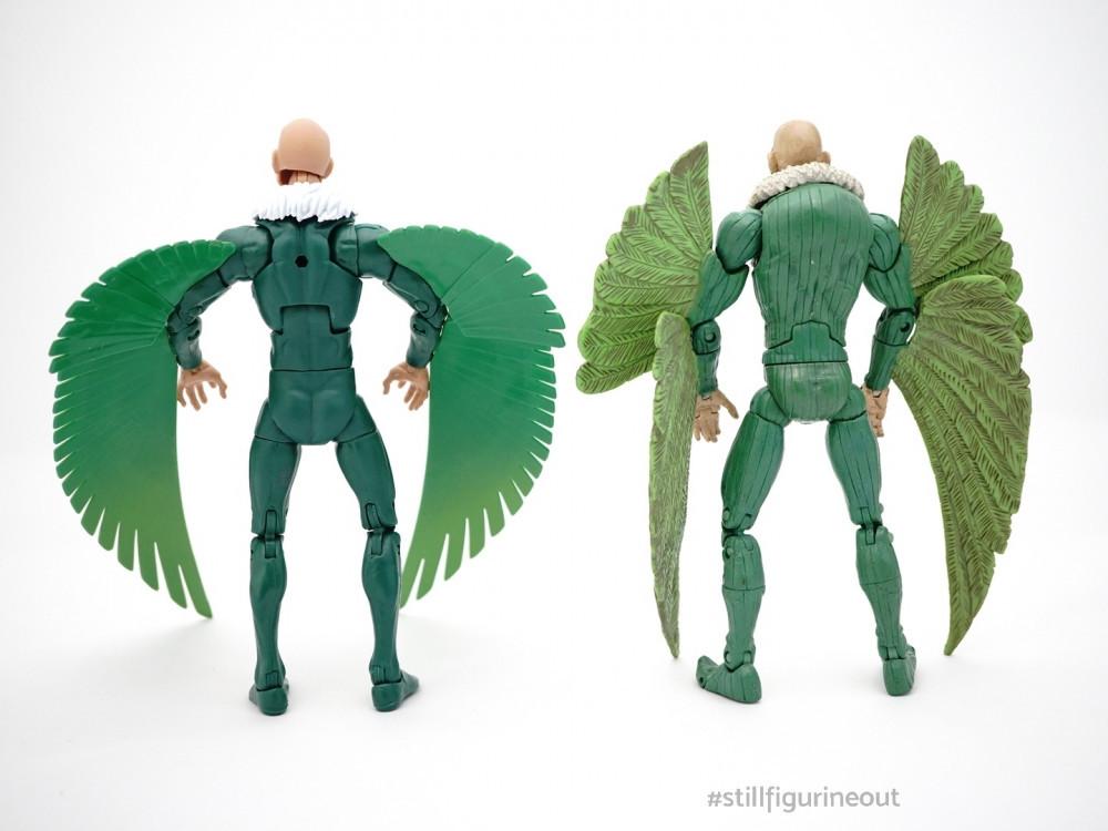 Marvel Legends - Hasbro Vulture (Demogoblin BAF Wave) vs Toybiz Vulture (Fearsome Foes Box Set)