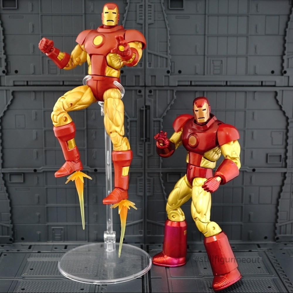 Marvel Legends - Iron Man (Vintage Wave) vs Iron Man (Epic Heroes Wave)