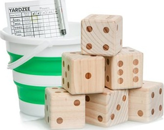 Yard Dice with collapsable bucket