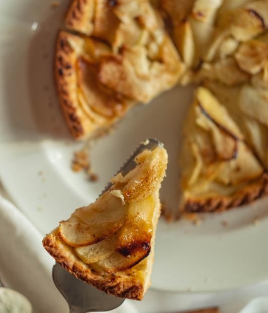 An eighth of an apple tart