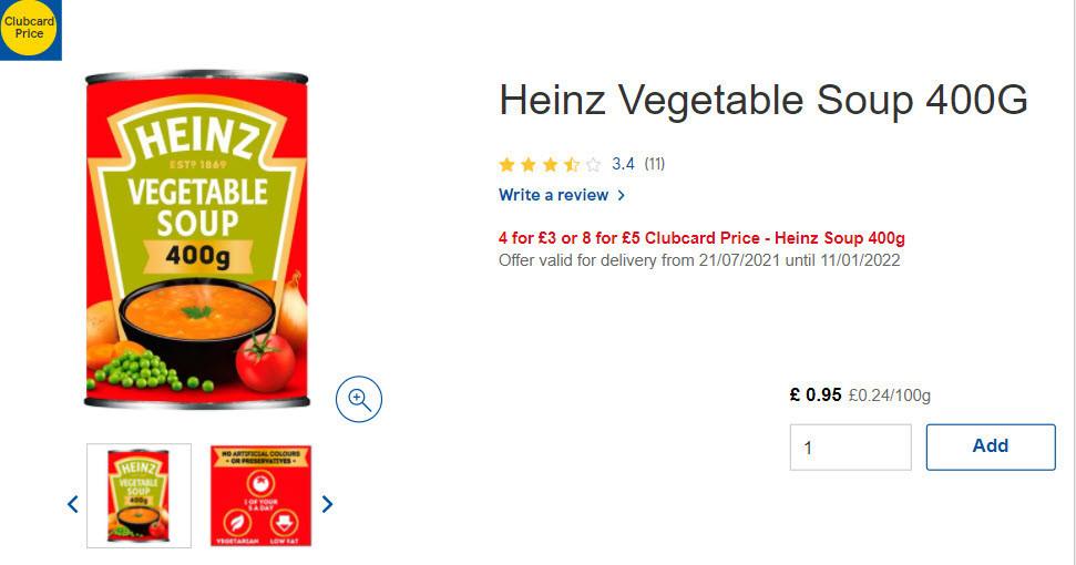 Heinz vegetable soup photo