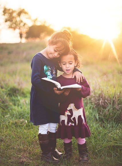 Christian children reading