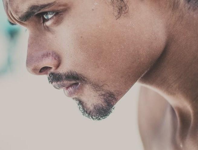 Man focusing