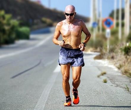 Man running in heat