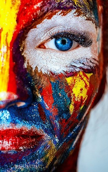 Face Painted Woman
