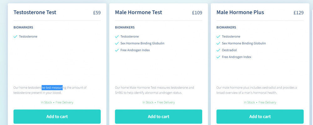 LetsGetChecked Testosterone & male hormone tests