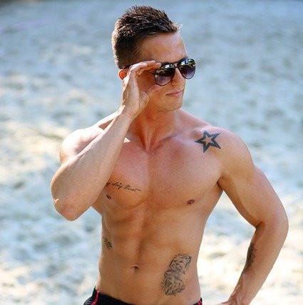 Muscular man in sun