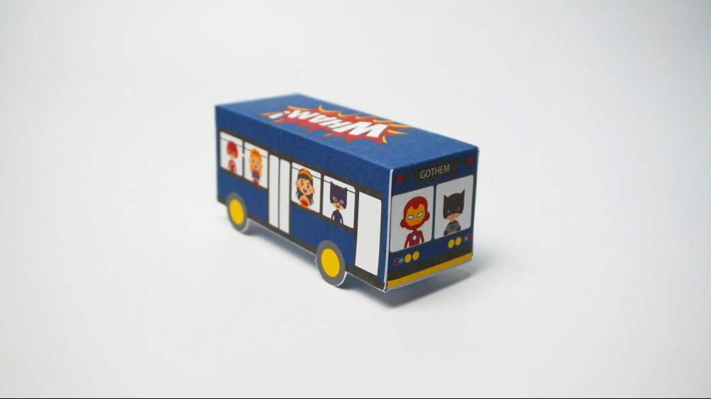 Superhero Printable Bus