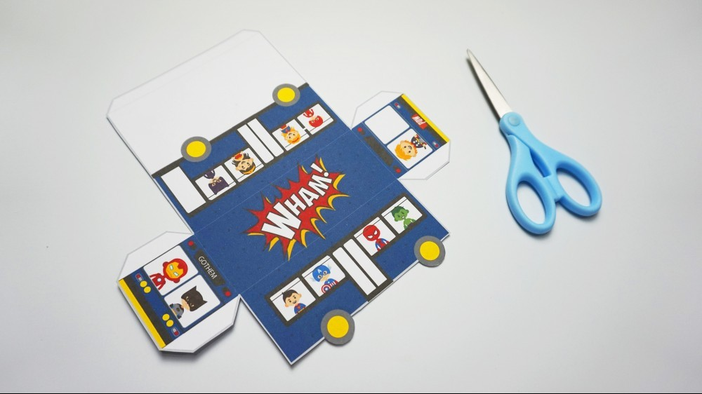 Superhero Printables instructions