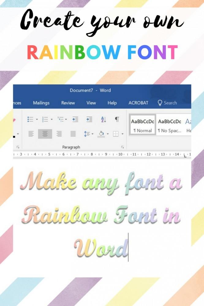 Rainbow Letters Word