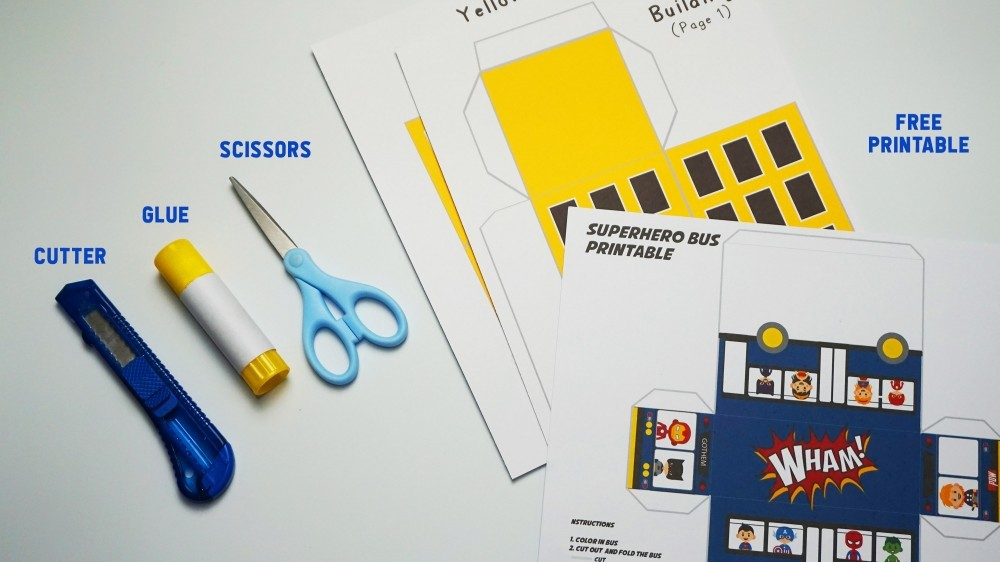 Superhero Prinable Supplies
